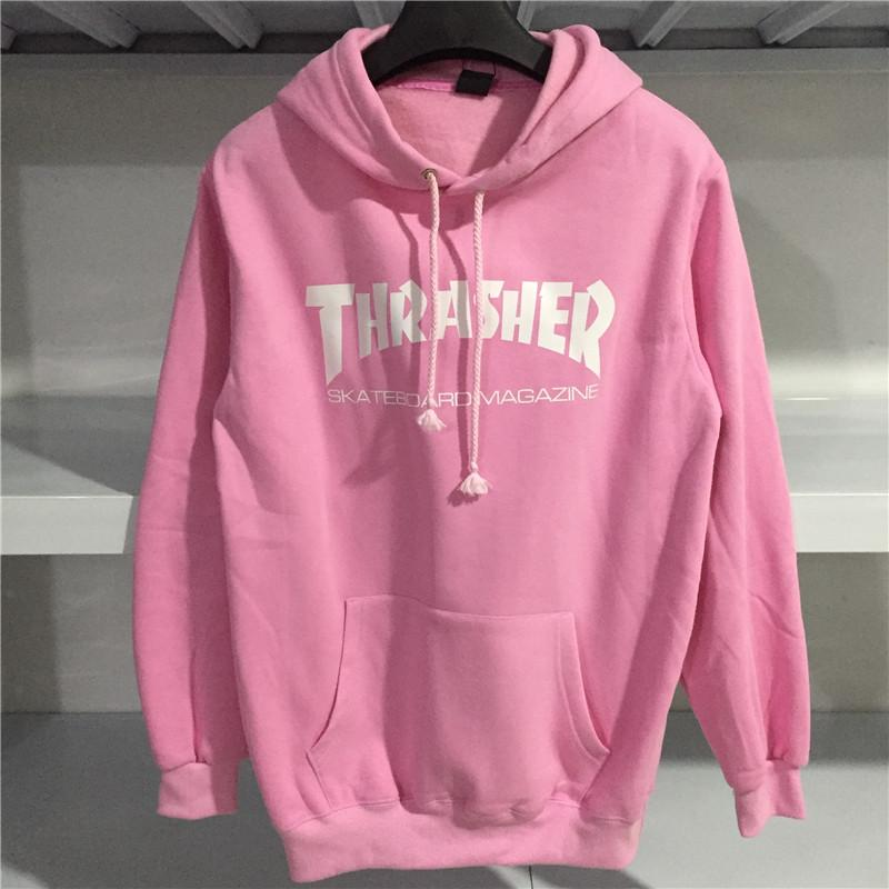 dfbd53b43d22 2019 Wholesale Thrasher Hoodie Hip Hop Men Thrasher Skateboard Brand Hoodies  Sweatshirts Hooded Mens Skateboard Pullover Hoodies Men From Volontiers