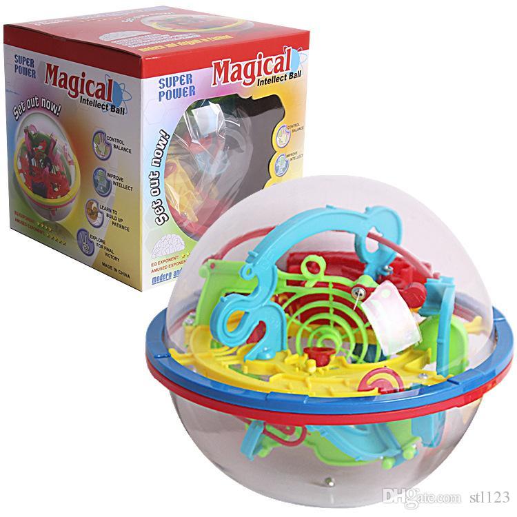 100 خطوات 3D لغز الكرة ماجيك الفكر الكرة مع هدية الألعاب التعليمية لغز التوازن لعبة المنطق القدرة للأطفال البالغين