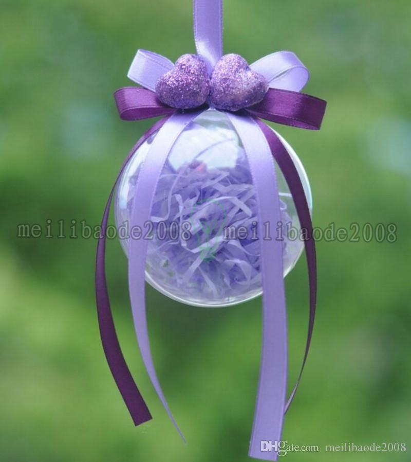 Christmas Decorations Openable Transparent Plastic Christmas Ball Baubles 4cm To 14.6cm Christmas Tree Ornament Party Wedding Clear Balls MY