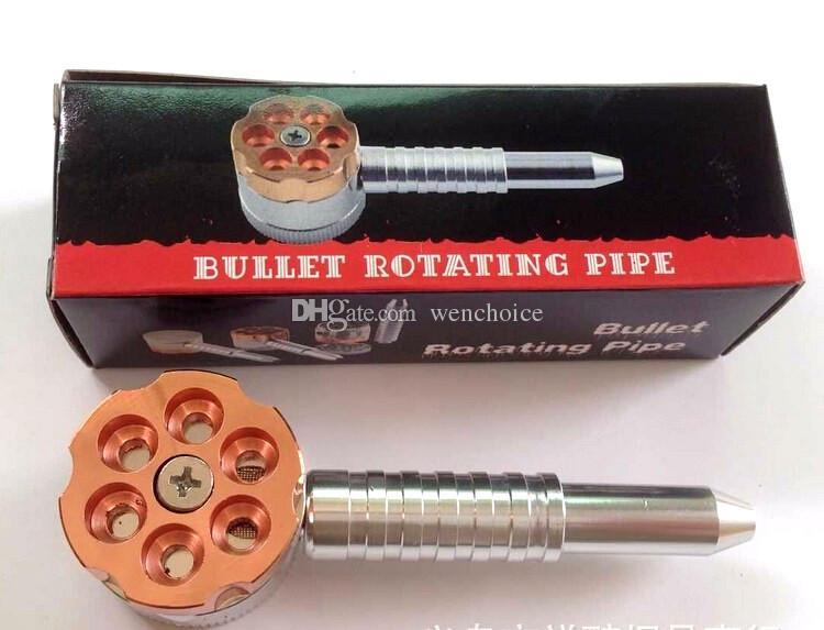 KKDUCK Bonne Qualité Usine Prix Bullet Rotatif Tuyau Grinder Multifonction Tabac En Métal Fumer Herb Grinder Crusher