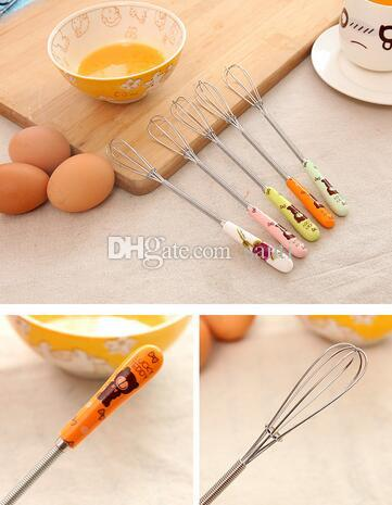 Hot Multifunction Manual Stainless Steel cerâmica Handle Egg Beaters Leite Creme Manteiga Whisk Mixer Stiring Kitchen Tool
