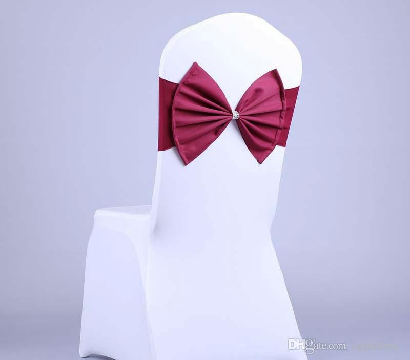 Arcos cadeira cobre capa para festa de casamento suprimentos elástico cadeira caixilhos sash cadeira bandas com arco atacado 10 cores novo frete grátis