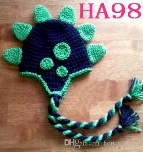 الكروشيه ديناصور محبوك قبعات الوليد الرضع طفل رضيع الفتيان الفتيات هالوين عيد الميلاد قبعة الأطفال دينو قبعة 100٪ ٪ الدعائم