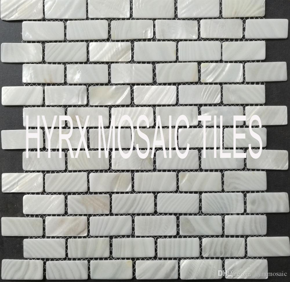 2018 Home Mosaics Tiles White Brick Mother Of Pearl Tile Kitchen ...