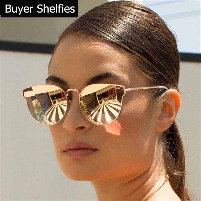 c62e33926434 Wholesale Luxury Grade Cat Eye Sunglasses Women Brand Designer 2017 Points  Sun Glasses Women Female Ladies Sunglasses Mirror UV400 Shades Circle  Sunglasses ...