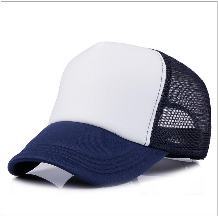 i della miscela Cappellino camionista all'ingrosso Cappelli camionisti vuoti Cappelli snapback Cappelli bambini Taglia 53-55 cm Cappelli da spiaggia in tinta unita Hiphop Cappelli da sole unisex