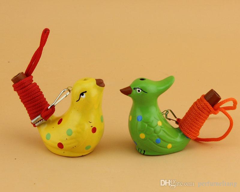 Керамическая вода птица свисток пятнистый Соловей песня щебечет украшения дома фигурка для детей Дети подарки ZA4043