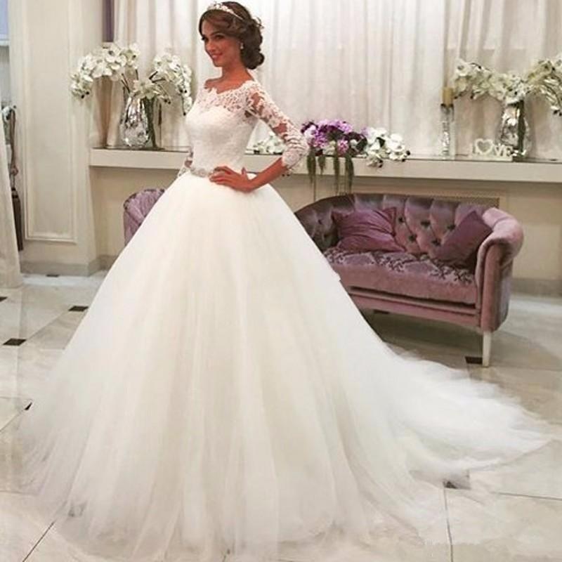 Compre Venta Caliente Arabia Saudita Vestido De Noiva Encaje De ...