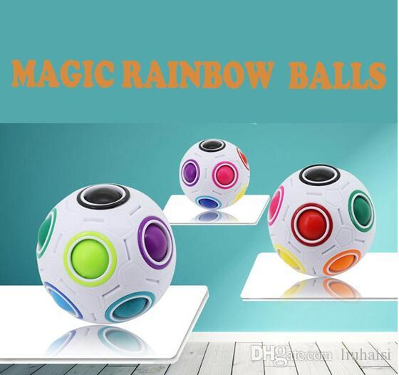 New Arrivel Rainbow Balls Magic Cube Speed Football Fun Creative Spherical Puzzles Kids Educational Learning Toys Children Adult Gifts