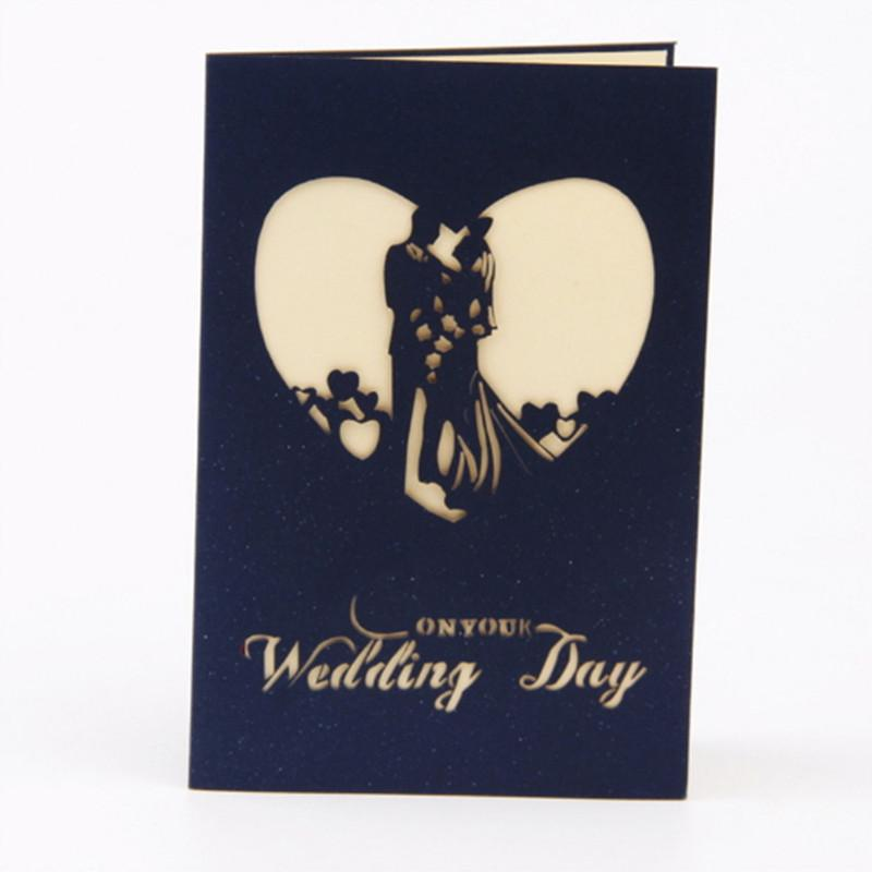foldable wedding invitations love shape card cards bride day with