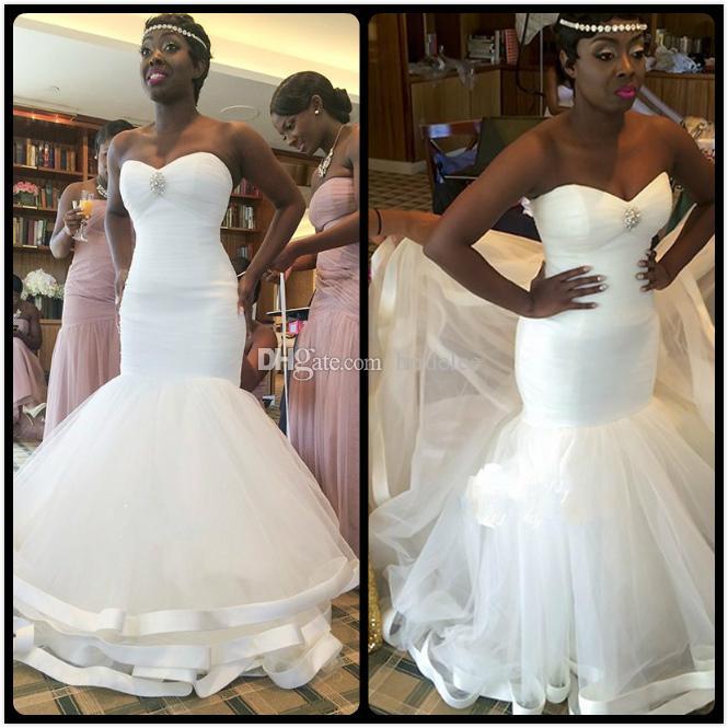 Asymmetrical Gathered Wedding Dress