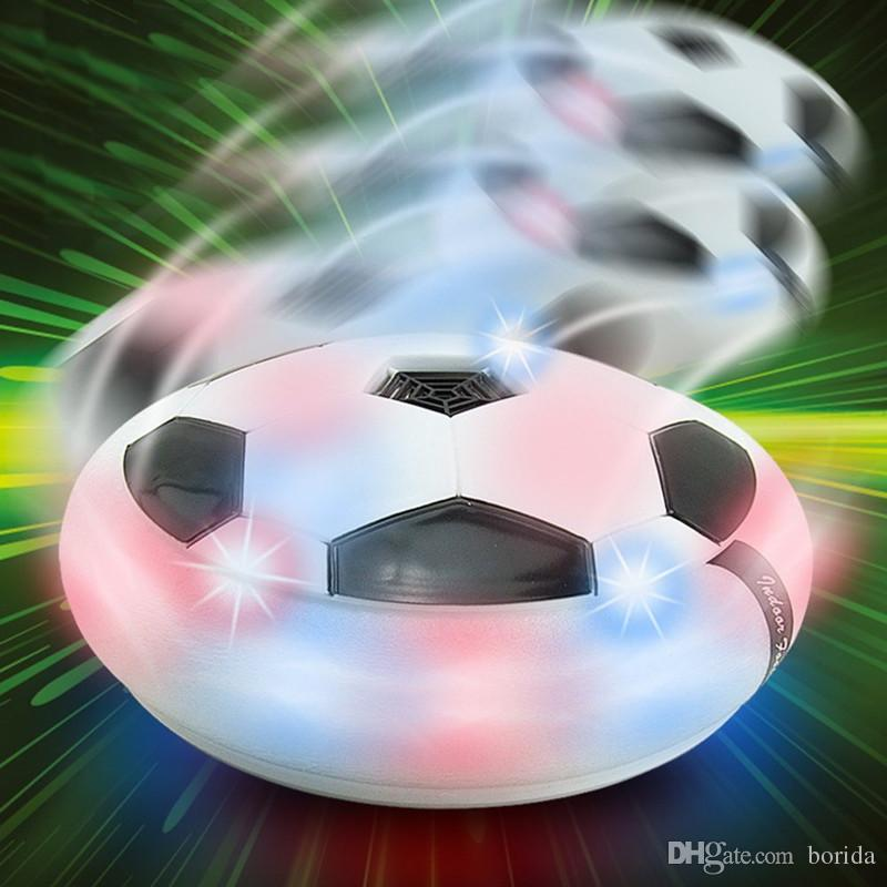 Flying Hover Ball LED Kids Air Power Soccer Football Children Toys LED Light Up Indoor Outdoor Disk Ball With Retail package