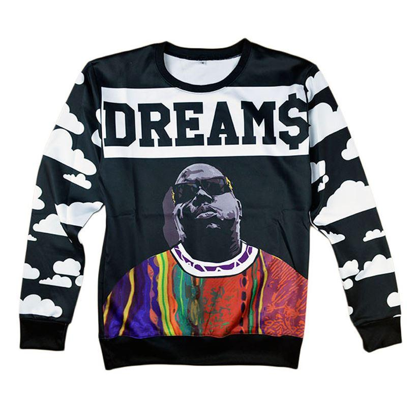 ab69addee2b 2019 New Fashion Men Women S Biggie Smalls Tupac Alice Skull Flower Sweatshirt  3d Print Mens Pullover Hoodies Hip Hop Shirt 17310 From Zhengrui04