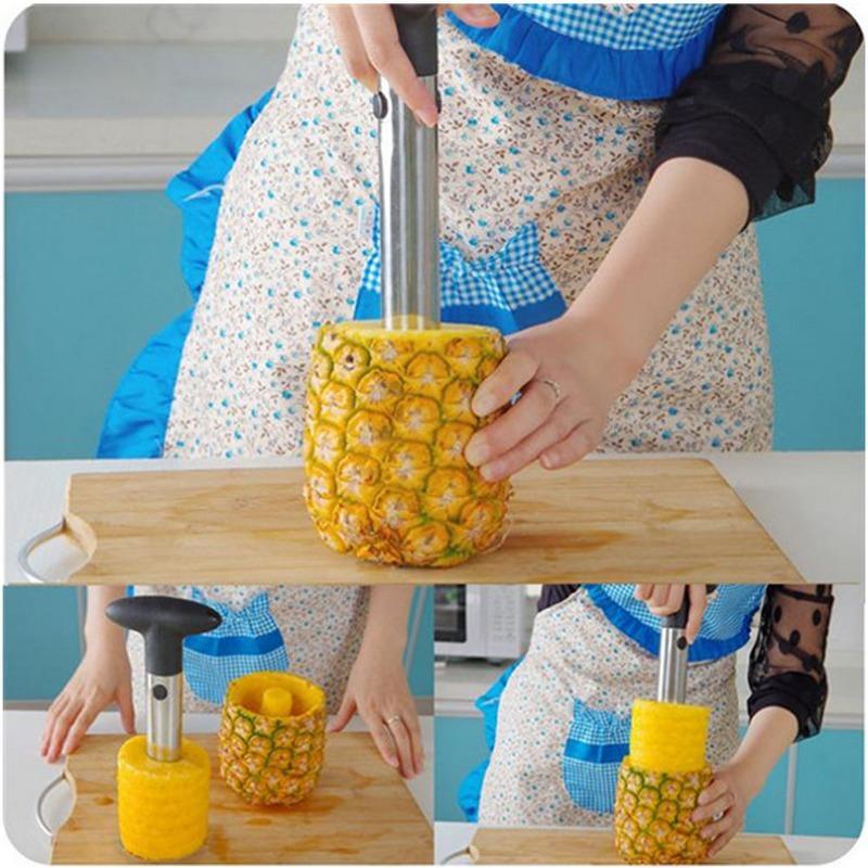Hot Sale Stainless Steel Fruit Pineapple Corer Slicers Peeler Parer Cutter Kitchen Easy Tool