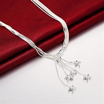 Groothandel - retail laagste prijs kerstcadeau 925 zilveren mode-sieraden gratis verzending ketting YN091