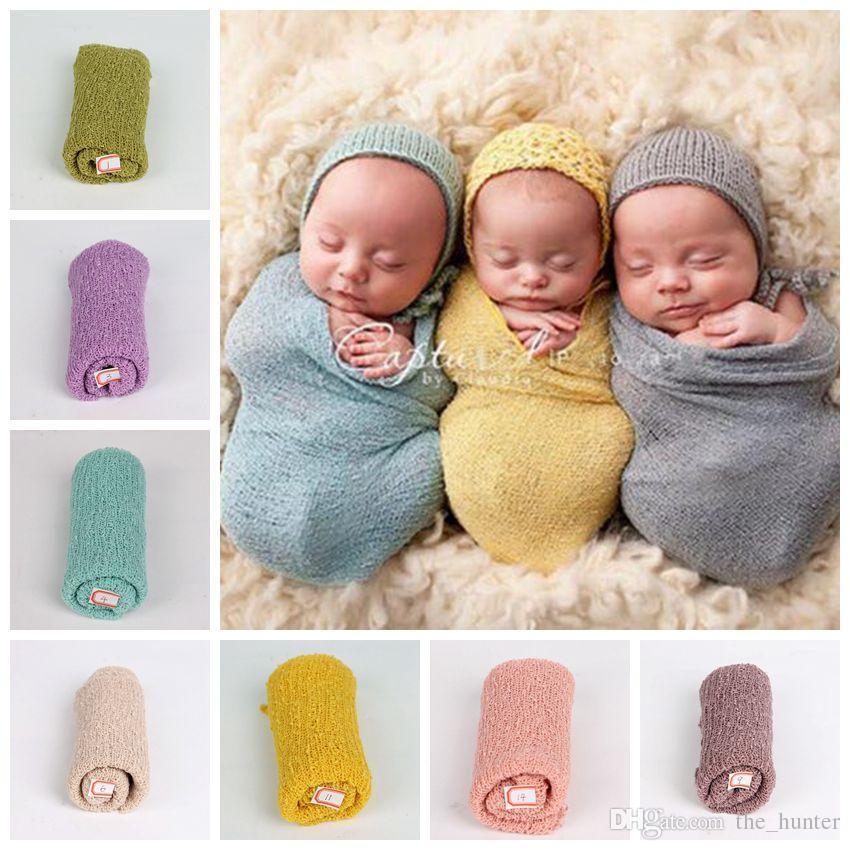 Baby photography props wrap swaddle newborn stretch knit wrap blanket soft bedding sleep sacks scarves baby newborn photo props f247 red baby blankets