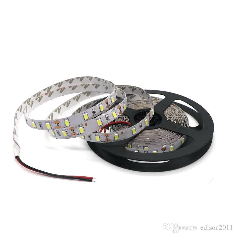 5630 SMD LED Strip Flexible Light 12V Non-Waterproof 60LED/m 5mWarm White Red Blue Green 5M/Roll Free DHL