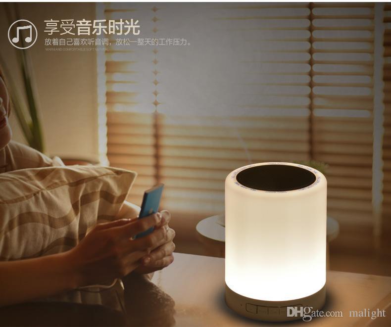 De Lumières Couleur Haut Dimmable Touch Parleur Table Lampe Bluetooth Portable Nuit Chevet LedChangement CoerxBd