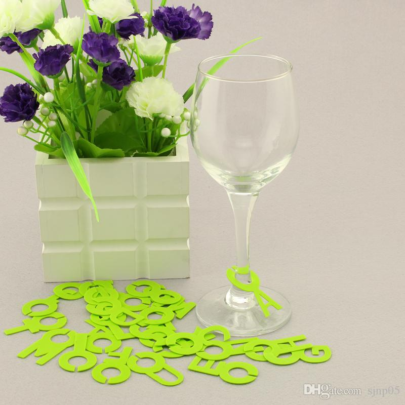 Silicone Letters Wine Glass Marker Identifier Tag Set Bar Home Cup Label Wine Accessories Wedding Party Table Decoration