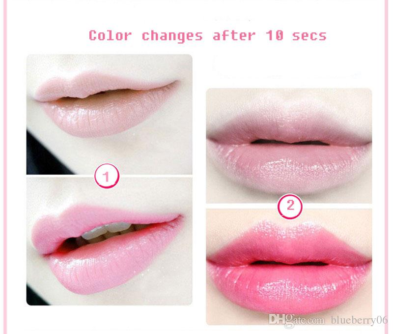 Temperature Change Color Lip Waterproof Long Lasting Sweet Transparent Jelly Flower Pink Moisturizer Lipstick 3 Flavor
