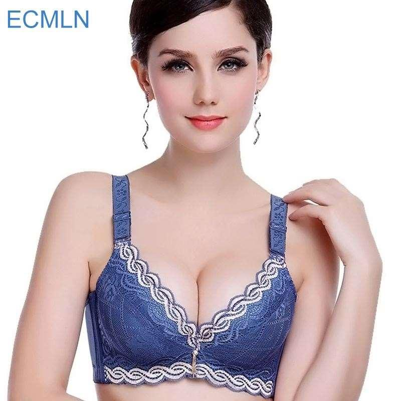 8c46b0ba74 2019 Female Underwear Small Breast Push Up Bra Minimizer Deep Vs 5cm Thick  Padded Brassiere Lace Bras Women Pushup Bra Intimates From Colin scot
