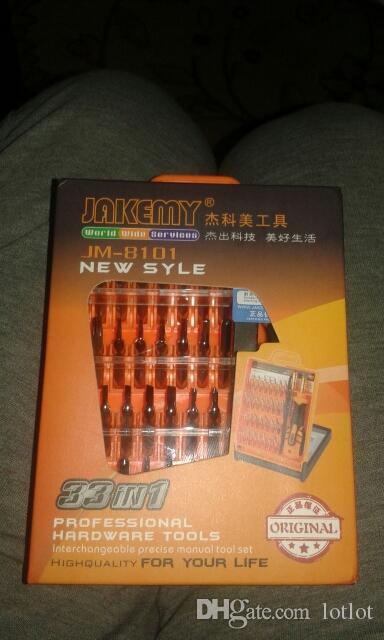 JAKEMY JM-8101 32 في 1 مجموعة مفك الدقة تفكيك الهاتف المحمول
