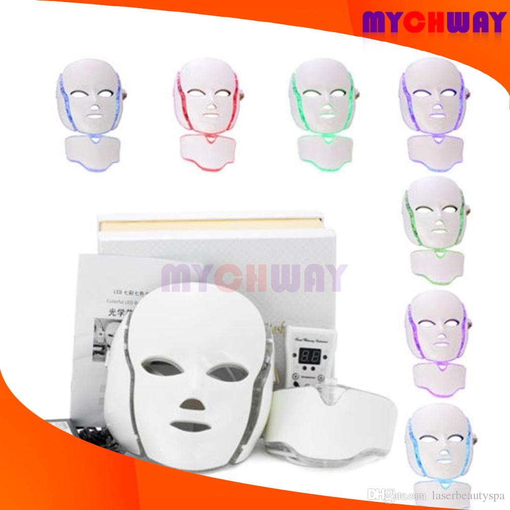 Face Photon Electric Led Facial Mask Home Use Light Skin Rejuvenation Anti Acne Wrinkle Removal Therapy Beauty Salon Beautiful In Colour