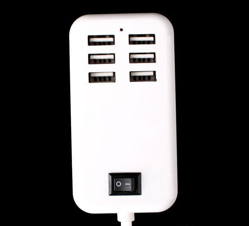 15 watt 6 ports desktop usb ladegerät au us uk stecker hub mit 1,5 mt kabel ladegerät adapter für iphone 7 samsung s7 ipad htc smartphone
