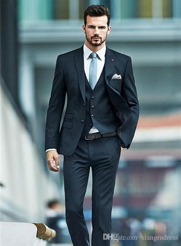 2018 New Arrival Three Piece Mens Suits For Wedding Custom Made
