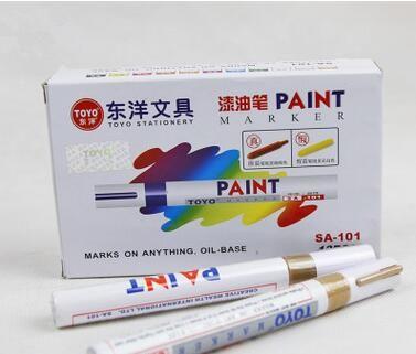 Universal Weiß Auto Motorrad Whatproof Permanent Reifenprofil Rubber Paint Marker Pen 5 Farben