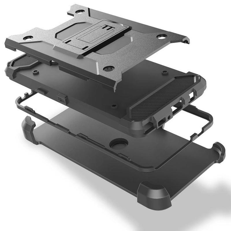 الحال مع كليب الحزام آيفون 12 البسيطة 12 برو XR XS MAX X 8 7 6 غالاكسي S10 S10E الحافظة ضد الصدمات درع الهجين الصلب PC + TPU تغطية الثقيلة