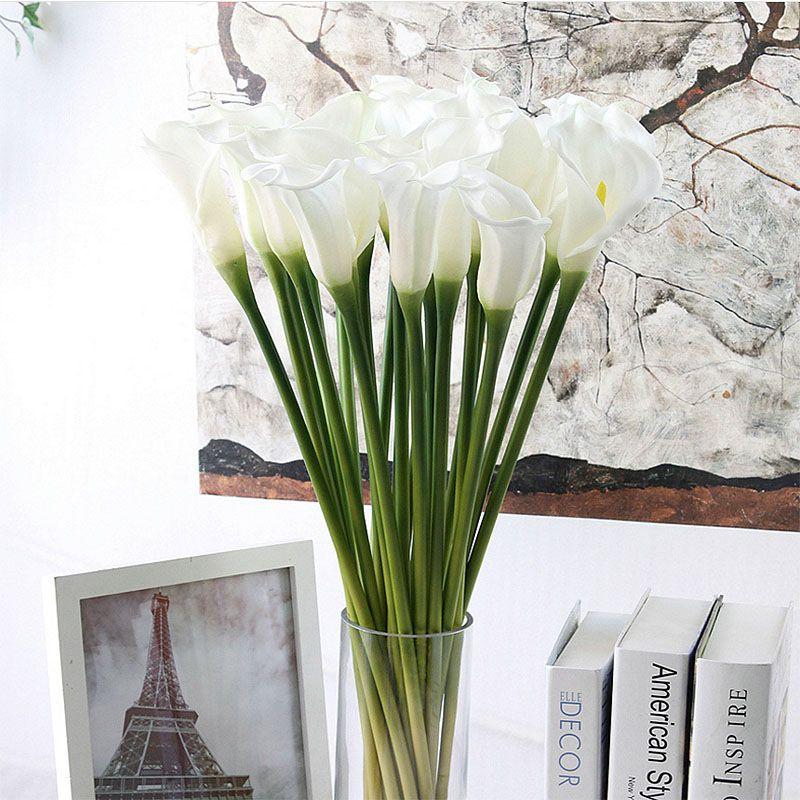 Dekorative gefälschte Blume künstliche Cala Lili Real Touch Brautstrauß Home Hochzeit dekorative Blume 4 Farben Mix