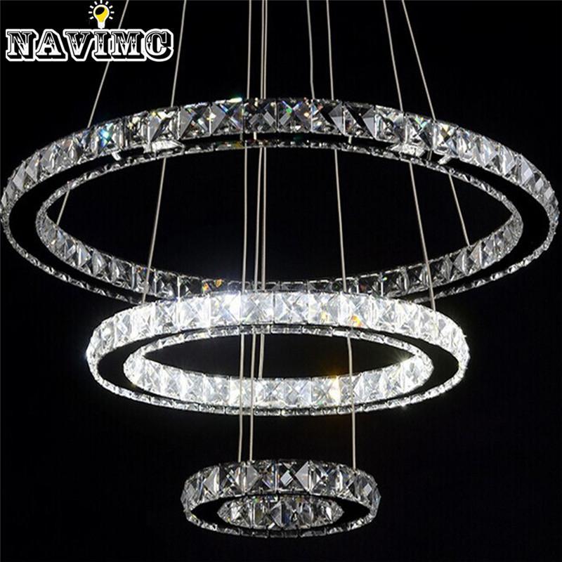 Modern Led Crystal Chandelier Light Fixture For Living Room Dining ...