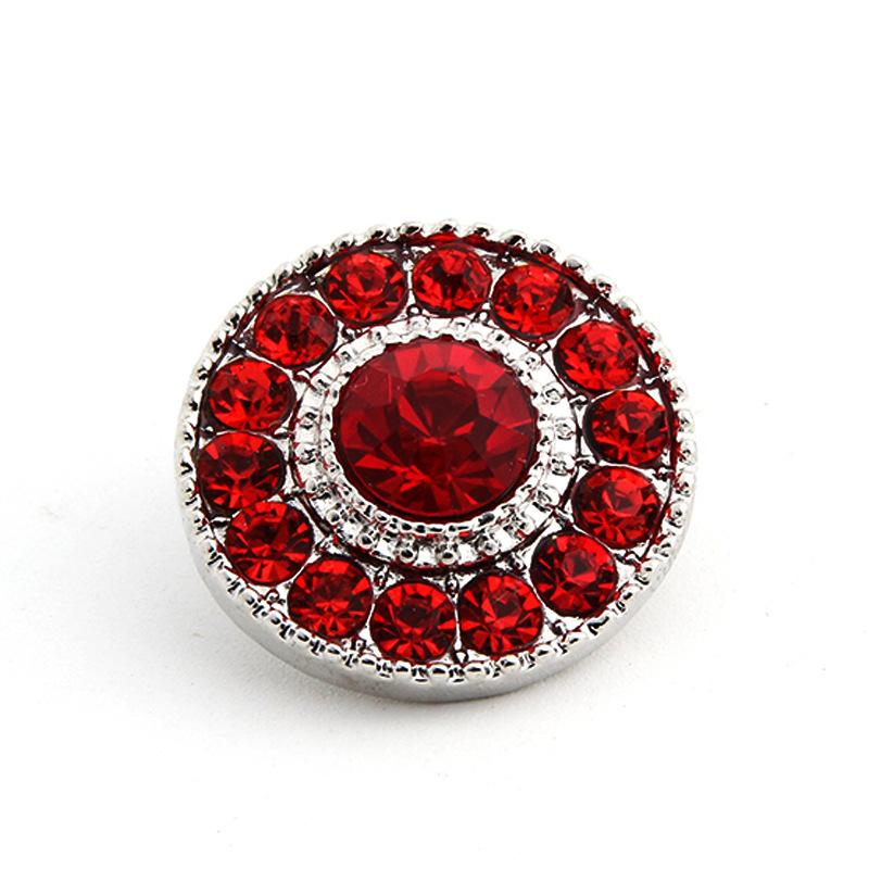 New flower crystal DIY ginger snap button jewelry for 18mm alloy button snap metal bracelet &necklace christmas gift