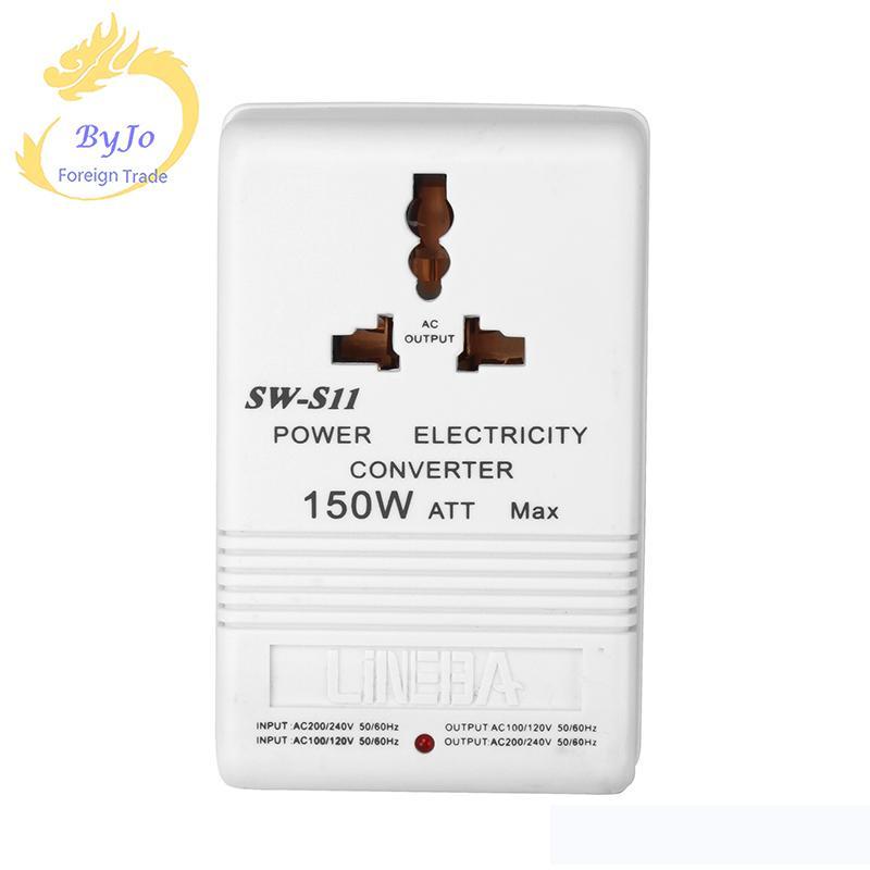 110V a 220V Convertidor elevador de voltaje descendente Transformador de viaje Transformador de 150 vatios