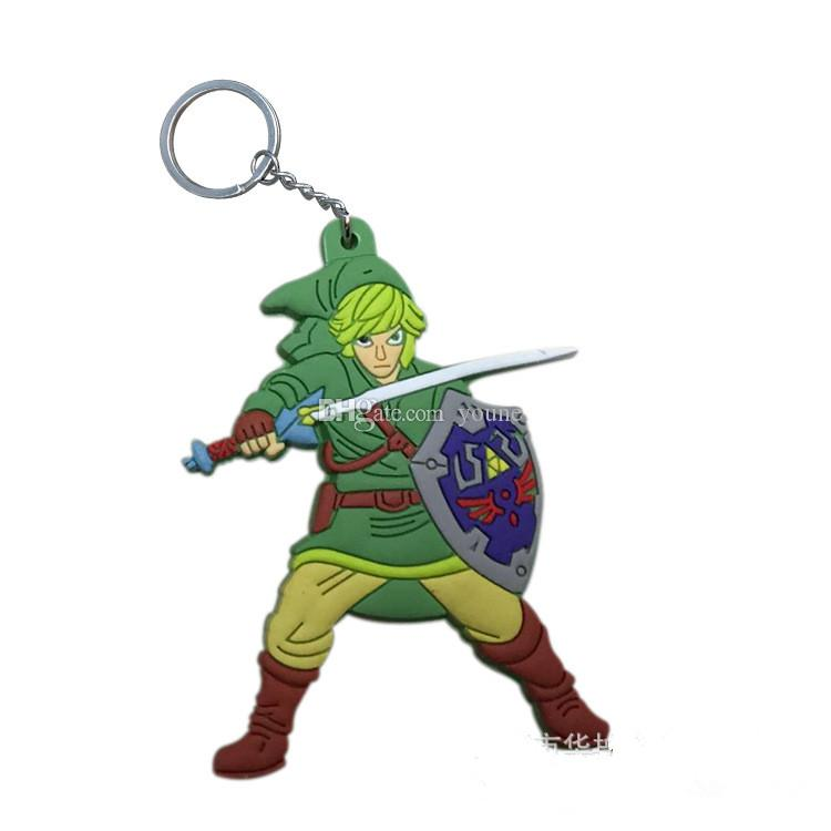 New Arrivals! The Legend of Zelda Keychain Character PVC Figures Key Chains Toy Kids Gift Christmas gifts Legend of Zelda