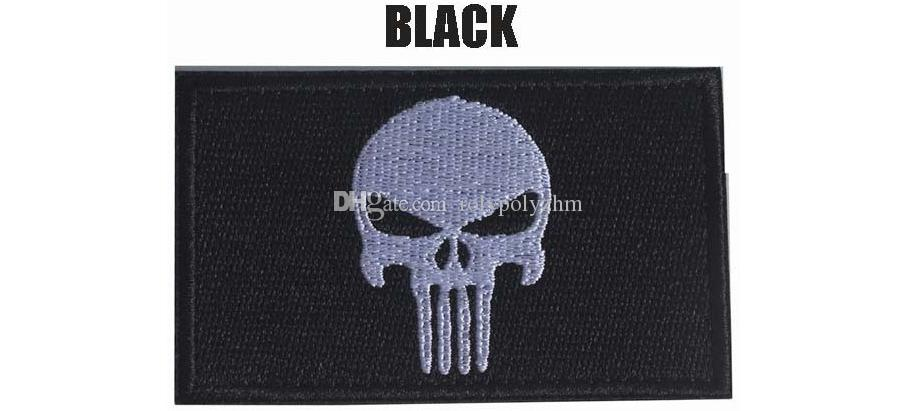 Brand New Punisher Skull High Quality 3D Embroidery Badges Clothing Backpack Patch Sewing Applique Boost morale Armband