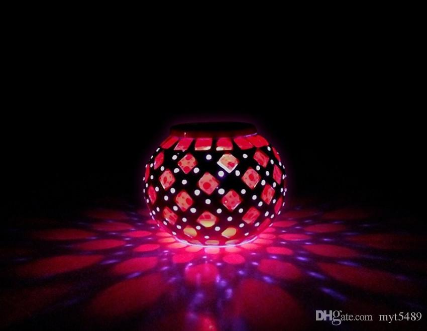 2018 Solar Powered Mosaic Glass Ball Led Garden Lights 0.6w Color Changing  Solar Table Lamps,Waterproof Solar Outdoor Lights For Christmas,Yard From  Myt5489 ...