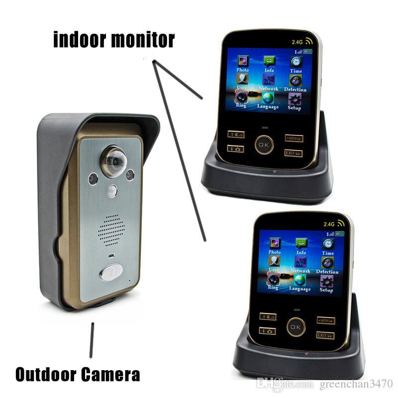 Wifi Video Door Phone 1v2 Draadloze Deurbel Met Videocamera Wireless