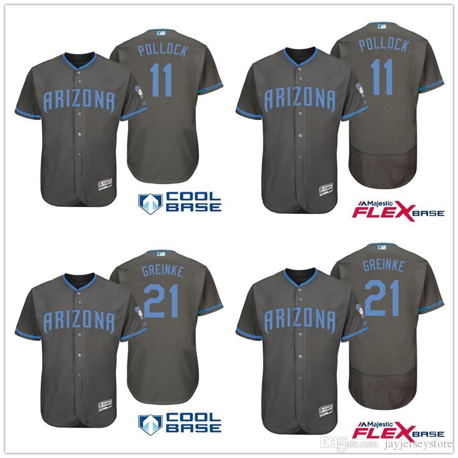 ae61dd849 ... get stitched jerseys 2017 arizona diamondbacks jerseys fathers day a.  j. pollock zack greinke jersey flexbase cool