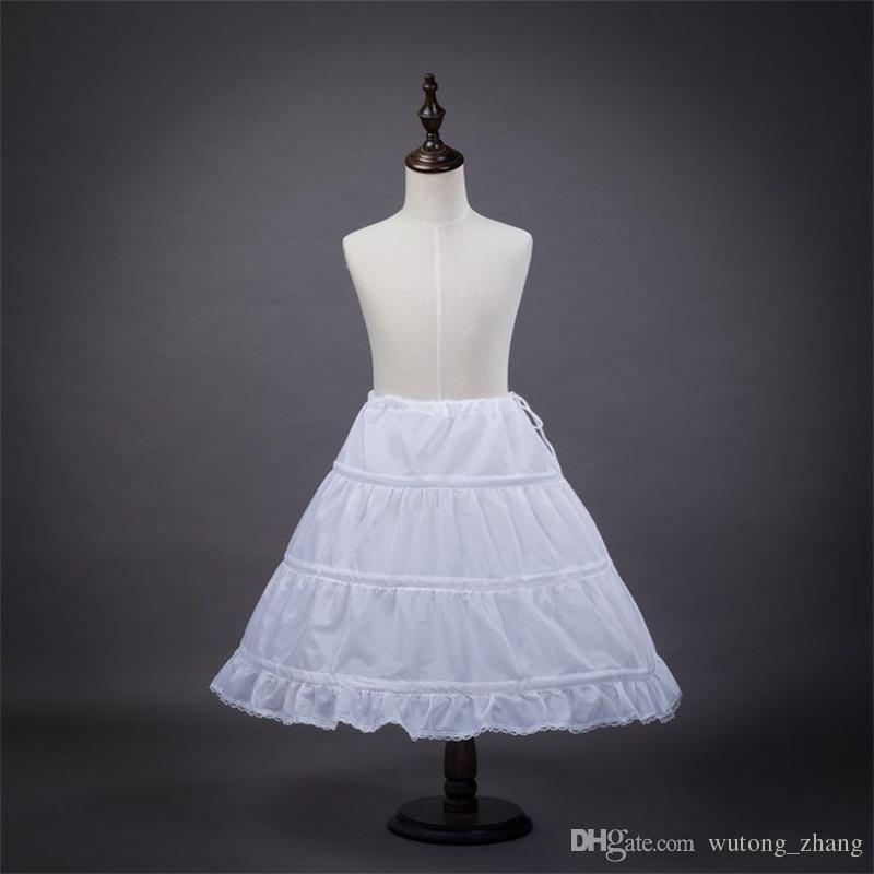 2017 New Children Petticoats For Formal Gown Flower Girl Dress White ...