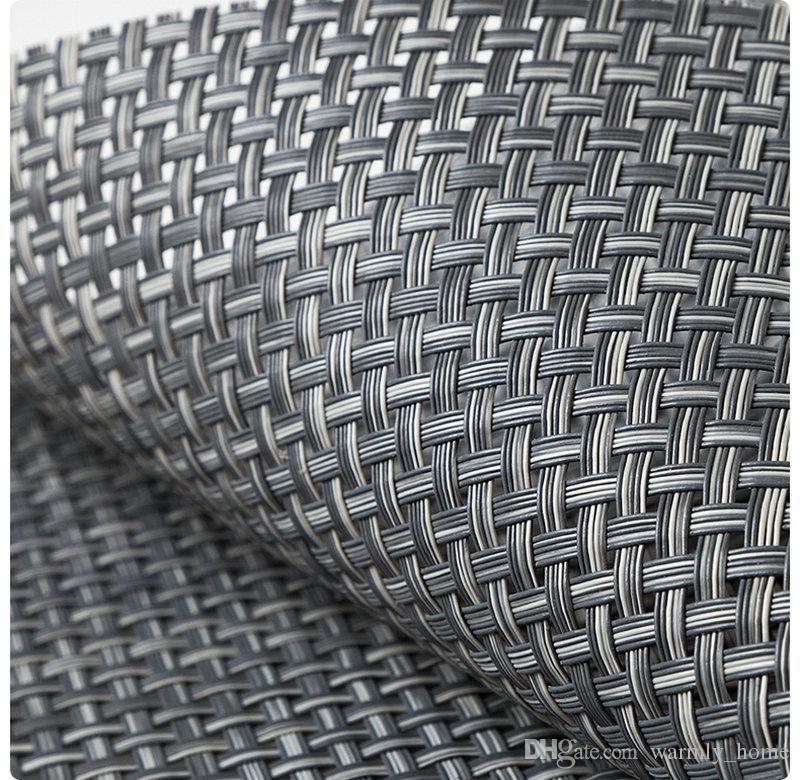 小売卸売ヨーロッパのスタイルPVC織り標本高品質のマットクッションラグプレートマットパッドカバー供給送料無料