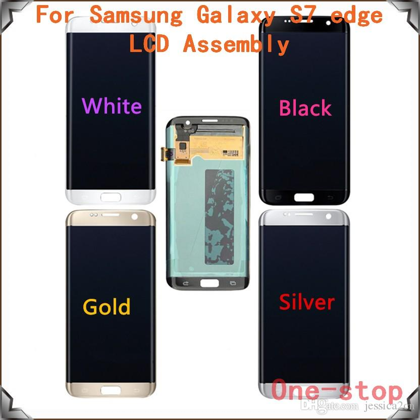 Original Lcd Display Touch Screen Panels Assembly For Samsung Galaxy S7 Edge G935 G935a G935v G935p G935t G935fgold Silver Black White