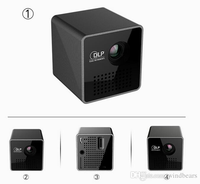 Origional UNIC P1+ projector Mini Portable home HD LED Projector WIFI Wireless DLP For Android mobile phone