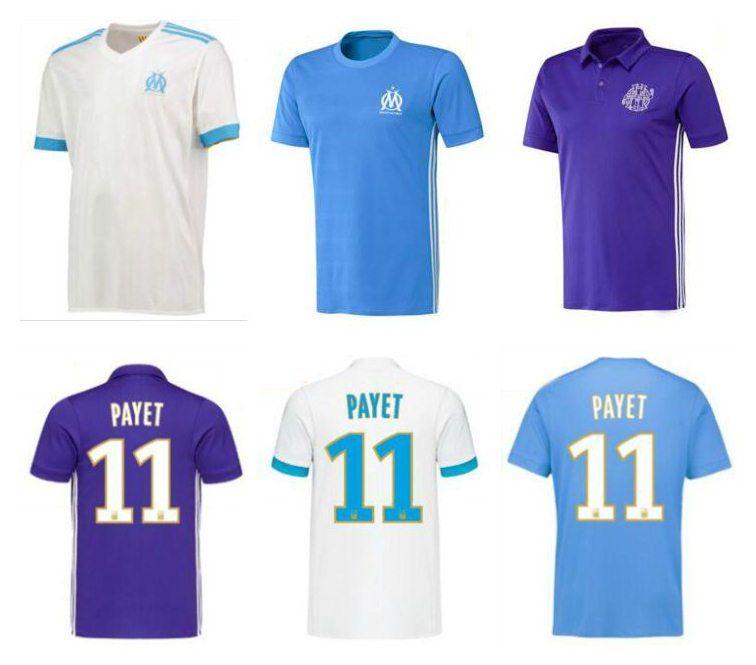 best sneakers 72906 395ab New Ligue 1 Maillot de Foot Olympique de Marseille Soccer Jerseys 2018  PAYET Jersey Football Shirt marseille 17 18 Uniform 2017 Free Ship