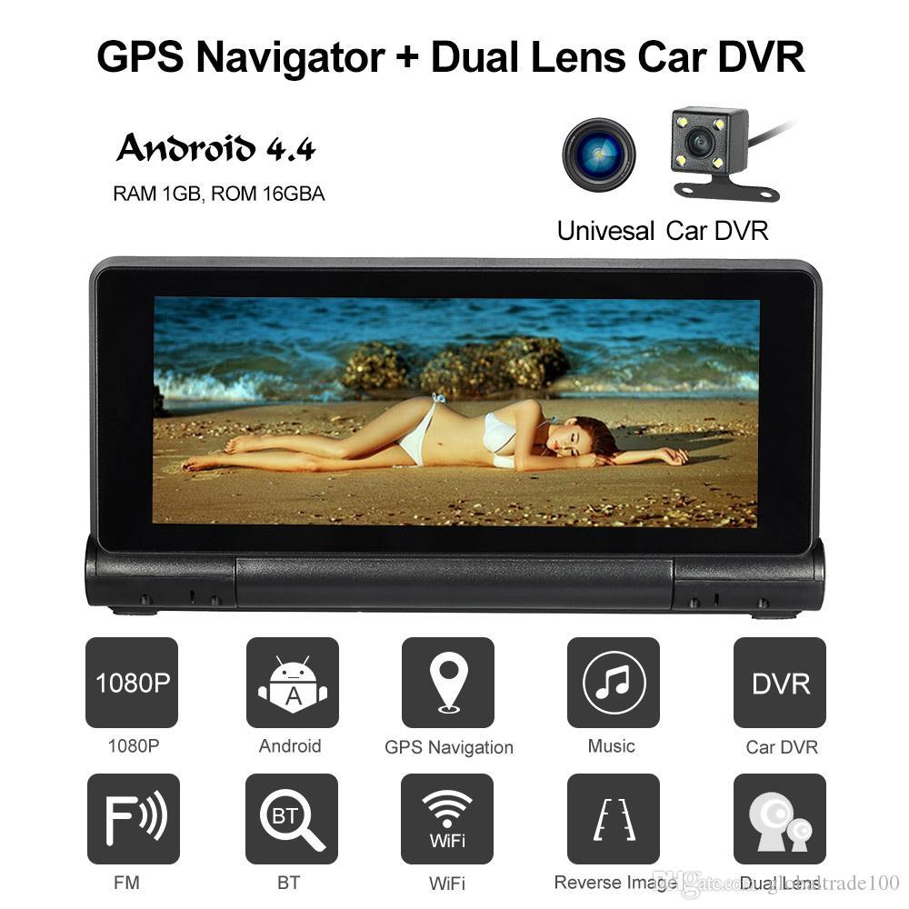 Enregistreur Système Bluetooth Us Fm Dvr Dash Voiture Avec 1080p Pouces Eu Carte Gps Android 16 Navigation Cam Wifi L Caméra 7 De Go 6gv7bfYy