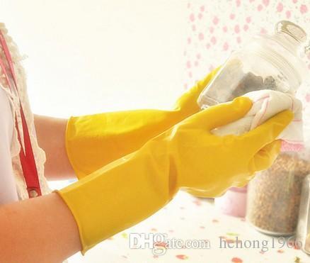 Luvas De Limpeza Luvas De Lavar Louça De Borracha De Trabalho Doméstico Luva De Látex Luva Longa Cozinha Lavar Os Pratos Mitts De Alta Qualidade 0 92rr R