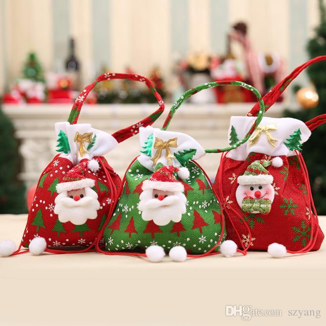 Christmas Bags In Bulk.Canvas Christmas Gift Candy Bags Christmas Bags Drawstring Favor Gift Package Bulk Set Of Multi Style Neon Colored Goodie Bags Sacks A170920 House