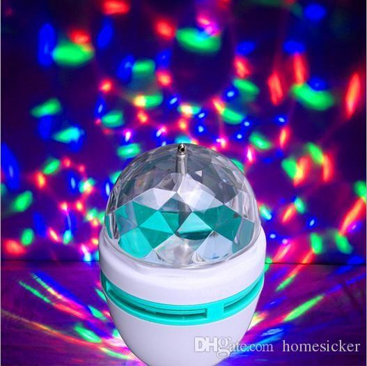 disco ball lights disco lighting dj led e27 3w rgb 360 degree auto