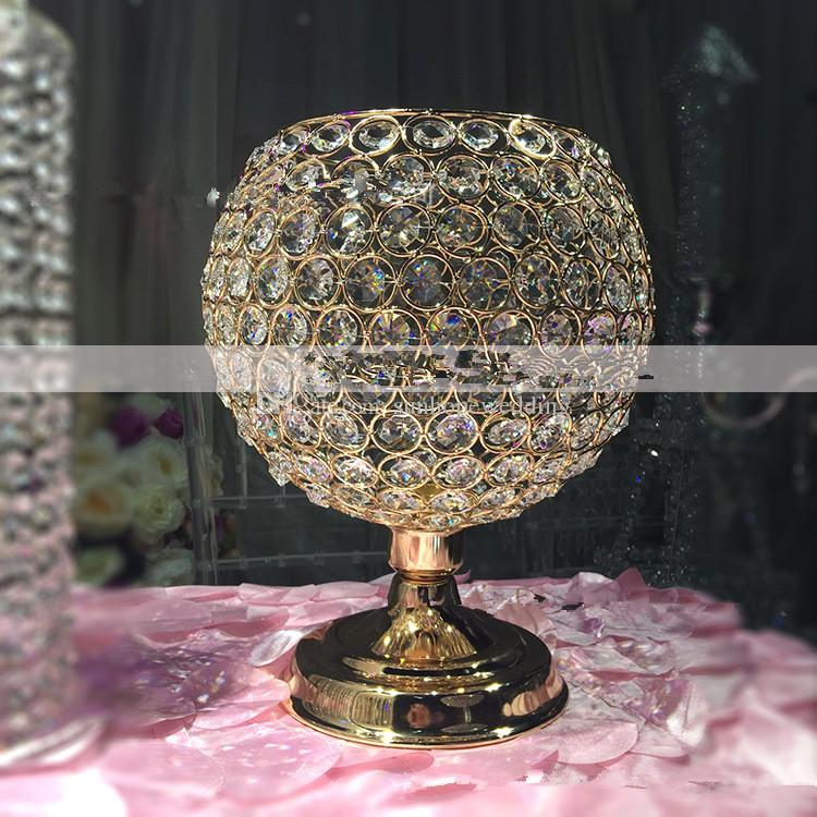 nouvelle mode cristal vase à fleur artisanat pour cadeau de mariage décoration maison